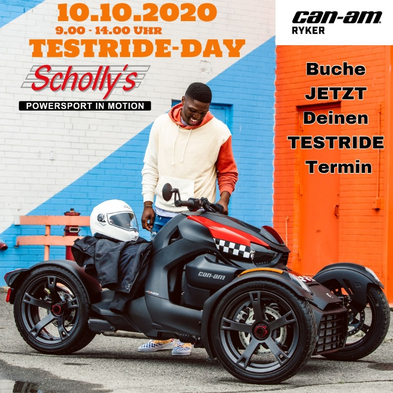 Motorradnews Scholly´s exklusiver Can-Am Ryker TESTRIDE-DAY - 10.10.2020