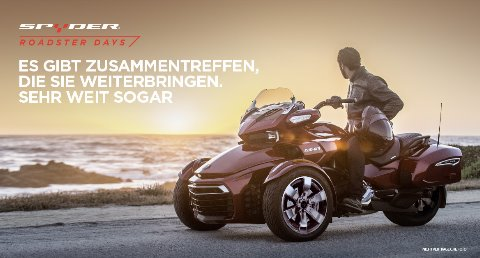 Motorradveranstaltung Can-Am Spyder Roadster Days 17. März - 09. April 2017
